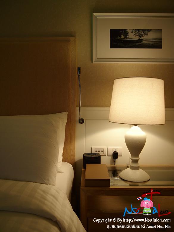 หัวเตียง มีวิทยุให้เสียบ IPhone ฟังเพลง (รีวิวรูปภาพ สุขสนุกต้อนรับซัมเมอร์ Amari Hua Hin - หนูตะลอน)