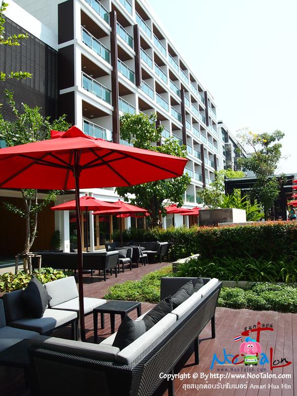 ภายในโรงแรมมีที่น่านั่งอยู่หลายมุม (รีวิวรูปภาพ สุขสนุกต้อนรับซัมเมอร์ Amari Hua Hin - หนูตะลอน)