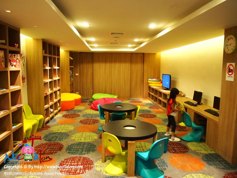 ภายใน Kids� Club มีเครื่องเล่นสำหรับเด็กมากพอควร สามารถสร้างความบันเทิงให้กับเด็กๆ ได้ทั้งวัน (รีวิวรูปภาพ สุขสนุกต้อนรับซัมเมอร์ Amari Hua Hin - หนูตะลอน)