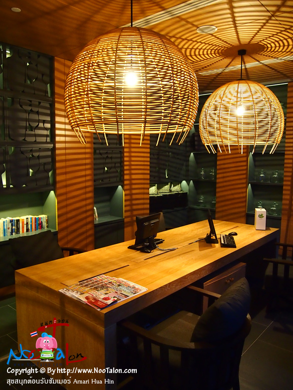 มุมอ่านหนังสือและอินเตอร์เน็ต ไม่ค่อยมีใครใช้บริการสักเท่าไหร่ เพราะจากที่ผมลอง ทุกที่ภายในโรงแรมมี Wireless Internet ให้เล่นฟรี (รีวิวรูปภาพ สุขสนุกต้อนรับซัมเมอร์ Amari Hua Hin - หนูตะลอน)