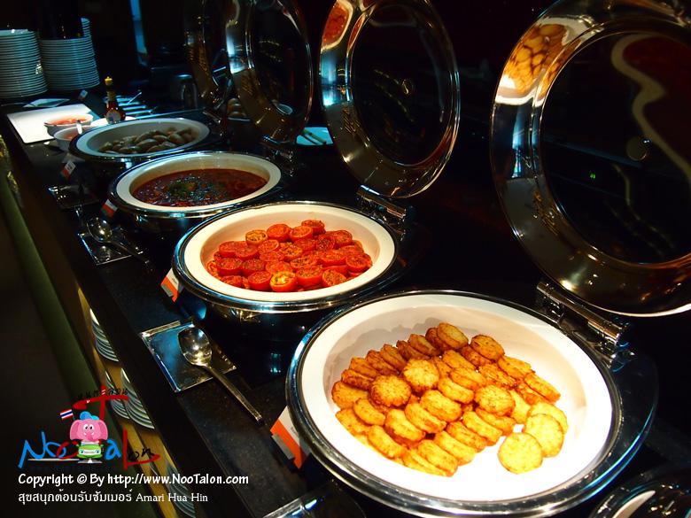 หม้ออาหารร้อนมีไม่เยอะมาก (รีวิวรูปภาพ สุขสนุกต้อนรับซัมเมอร์ Amari Hua Hin - หนูตะลอน)
